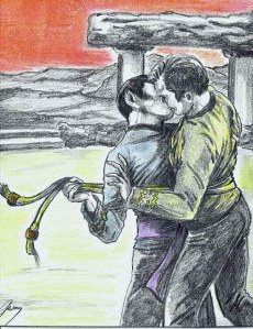 Kirk/Spock fan fiction art