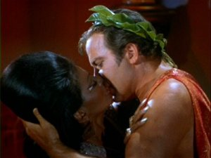 Kirk slippin' Uhura the tongue
